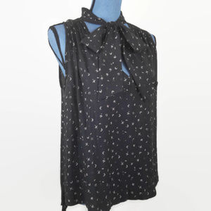 Free People Sleeveless Blouse with Collar Tie